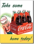 TIN SIGN COKE Sprite Boy Tame Home