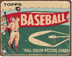 TIN SIGN Topps Baseball 1954