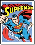 TIN SIGN Superman - Retro Panels