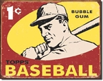TIN SIGN Topps 1959 Baseball