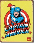 TIN SIGN Captain America Retro