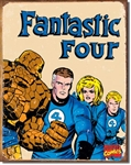 TIN SIGN Fantastic Four Retro