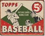 TIN SIGN TOPPS - 1955 Baseball Box
