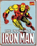 TIN SIGN Iron Man Retro