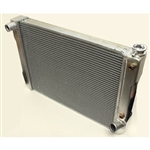 Aluminum Radiator 28 X 16.5 Chevy Street / Strip / Race A/T Cooler