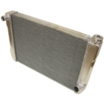 Aluminum Radiator 24 X 16.5 Chevy Street / Strip / Race M/T