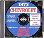 1973 Chevelle Shop Repair Manual CD
