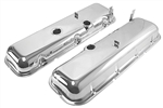 "Chevelle BBC Chrome Valve Covers ""Cheater"" 3/4"" taller Than Stock"
