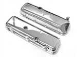 "Chevelle BBC Chrome Valve Covers ""Cheater"" 3/4"" taller Than Stock Slant Corner"