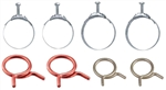 64-68 Chevelle Radiator Heater Hose Tower Clamp Kit (8pcs)
