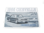 66 Chevelle Factory owner's manual