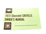 72 Chevelle Factory Owner's Manual