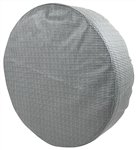 "1966-67 Chevelle Spare Tire Cover 14"" - Gray Houndstooth"