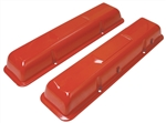 64-68 Chevelle Valve Covers SB Chevy 283 327 Orange