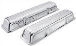 "67 Chevelle Valve Covers SB Chevy 283 327 350 Chrome Script ""Chevrolet"""
