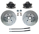 Drill Slotted Rotors Brake Loaded Caliper Kit GM A Body Front