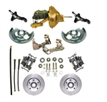 "1964-1972 Chevelle  67-69 Camaro Front Disc Brake Conversion Kit 11"" Booster Round Master Cylinder"