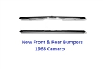 1968 Camaro Front & Rear Chrome Bumper Kit