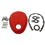 Orange Steel Timing Cover SB Chevy 283-350 KIT w/Bolts & Gaskets