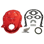 Orange Steel Timing Cover BB Chevy 396-454 w/ Bolts, Gaskets & Tab
