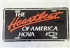 Heartbeat of America Nova License Plate