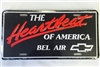 Heartbeat of America Bel Air License Plate