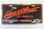 Heartbeat of America Yesterday's Chevelle License Plate