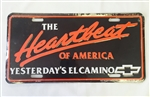Heartbeat of America Yesterday's El Camino License Plate