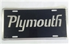 Plymouth License Plate