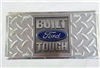 Built Ford Tough Diamond Plate License Plate