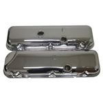 Chrome Valve Covers OEM Style TALL Cheater Covers BB Chevy 396-502 Slant Corner