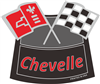 Air Cleaner Decal Chevelle Flags(Red)
