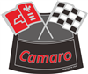 Air Cleaner Decal Camaro Flags(Red)