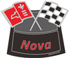 Air Cleaner Decal Nova Flags(Red)