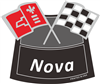 Air Cleaner Decal Nova Flags(White)