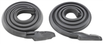69-72 Chevelle Roof Rail Weatherstrip Coupe Pair