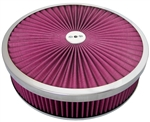 "Aluminum Power Flow Air Cleaner 14"" X 3 "" Round Washable Top & Filter"