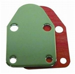 Chrome Steel Fuel Block Off Plate SB Chevy 283-400