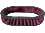 "Washable Air Cleaner Filter 12"" X 2"" Oval Filter"