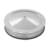 "Chrome Air Cleaner 14 x 3 ""Muscle"" Style"