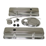 SB Chevy Chrome Engine Dress Up Kit 283-400 Stock Height