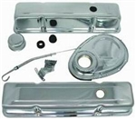 SB Chevy Chrome Engine Dress Up Kit 283-400 Tall Height