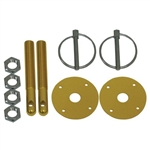 CHEVY/FORD/MOPAR ALUMINUM HOOD PIN KIT FLIP-OVER STYLE - GOLD
