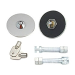 "Stainless Steel Hood Lock Set 3/8"" pair"