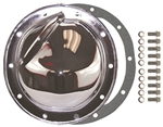 Chrome Steel Rear End Differential Cover GM 10 Bolt KIT