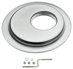 "HEI Air Cleaner Base Off Set 14"" Chrome Flat Base"