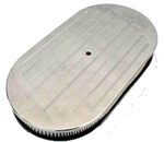 "Aluminum Oval Air Cleaner 15"" Ballmilled"