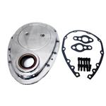 Polished Aluminum Timing Cover SB Chevy 283-350 w/ SS Bolts & Gaskets