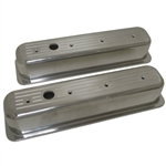 Aluminum Valve Covers SB Chevy 1987-1997 Center Bolt Ball Mill Tall
