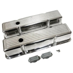 Aluminum Valve Covers SB Chevy 283-400 Tall Ballmill